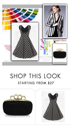 """Simple Dress 17"" by semic-merisa ❤ liked on Polyvore featuring Versace and vintage"