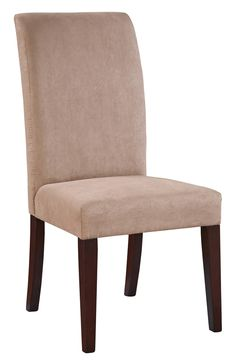 Powell Furniture - Upholstered Microfiber Parsons Chair - Set of 2