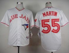 Blue Jays #55 Russell Martin White 2015 Canada Day Stitched MLB Jersey