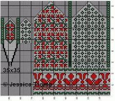 30 Patrones de Mitones Jackard Knitted Mittens Pattern, Crochet Mittens, Fingerless Mittens, Knit Crochet, Knitting Charts, Knitting Stitches, Knitting Patterns, Knitting Tutorials, Bead Crochet Rope