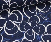 Canvas - Glücksklee - Blau - Cosmo - Japanstoff