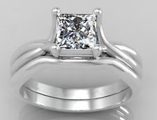tcw Princess Genuine Diamond Engagement Ring Bridal Set Solid W Gold Wedding Ring Styles, Engagement Wedding Ring Sets, Wedding Rings For Women, Diamond Wedding Rings, Diamond Engagement Rings, White Gold, Princess Cut, Bridal, Website