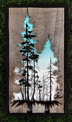 Beautiful Landscape Paintings Emerge from Creatively Carved Wood Frames,Reclaimed Wood Frames Reclaimed Wood Art Woodensense How To Produce Wood Art ? Wood art is generally the job of surrounding around and inside, provide. Arte Pallet, Pallet Art, Diy Wood Projects, Wood Crafts, Art Projects, Woodworking Projects, Woodworking Furniture, Woodworking Plans, Wood Board Crafts