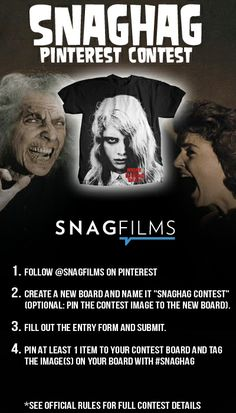 Pin for your chance to win in the SnagFilms SnagHag Contest! #SnagHag