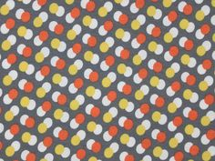 Viskosejersey Dot by Dot, grau-orange