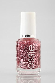 Essie 'A Cut Above' sparkle nail polish. Awesome on nude or even dark colors ... adds beautiful glitter and tones of pink