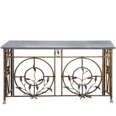 Antique French Ironwork Console | 1stdibs.com