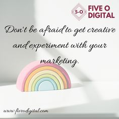 Don't be afraid to get creative and experiment with your marketing. We are here to help you. Click here www.fiveodigital.com #socialmediamarketing #digitalmarketing #leadgeneration #pinterestmanagement #contentcalendar #digitalmarketingstrategy Digital Marketing Strategy, Social Media Marketing, Dont Be Afraid, Make It Work, Lead Generation, Experiment, Work On Yourself, Inspirational Quotes, How To Get