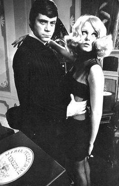 Oliver Reed and Jean Varon, 'Vogue UK', Aprilk 1968. Photo by Hans Feurer.