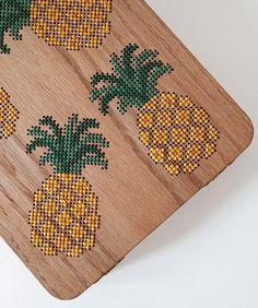 Pineapple Stitched Oak Wood Backpack by Grav Grav - $695