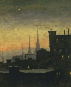 New York Roof TopsLouis Michel Eilshemius (American, 1864-1941)
