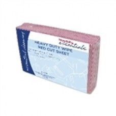 """WIPES HEAVY DUTY RED 60 X 60CM 20/PKT 5/CTN  $42.97 Wipes can be used to clean up quick spills or dirty areas in a flash. Affordable and more sanitary than cloths that can harbor germs, it""""s a smart move that will offer the peace of mind knowing areas are sanitized, safe and clean."""