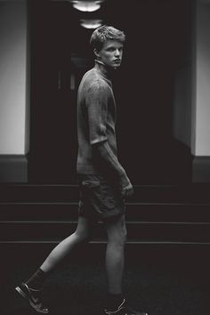 James B at Next Models London by Cecilie Harris for Boys by Girls. James wears Jumper by MANUEL RITZ, Shorts by CHAMPION. See all images here.
