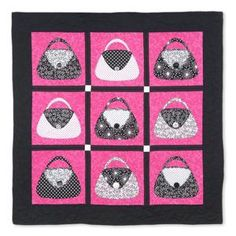 Express Your Purse-onality Quilt: This one is too cute! Love it~