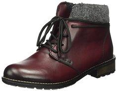 Remonte Damen R3332 Combat Boots, Rot (Chianti/Fumo/Granit / 35), 36 EU