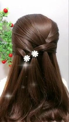Easy Hairstyle Video, Hairstyle Braid, Easy Hairstyles For Long Hair, Braided Hairstyles, Beautiful Hairstyles, Step By Step Hairstyles, Wedding Guest Hairstyles Long, Quick Hairstyles For School, Fine Hairstyles