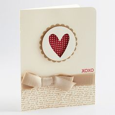 Idea for a Stampin' Up! valentines card.