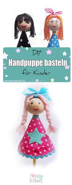 DIY Handpuppe basteln Kinder, Handpuppen selber machen, Geschenkidee zum Kindergeburtstag, DIY Geschenke