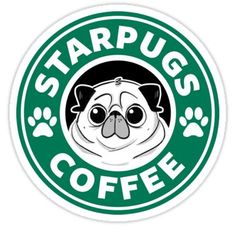 'Starpugs Coffee' Sticker by elenapugger Disney Starbucks, Starbucks Logo, Starbucks Coffee, Wallpaper Iphone Cute, Cute Wallpapers, Disney Drawings, Cute Drawings, Starbucks Wallpaper, Coffee Logo