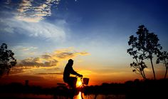 at dusk toward home