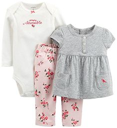 5eb217f20 online shopping for Carter's Baby Girls' 3 Piece Pant Set (Baby) - Heather  - Simply Adorable Months) from top store. See new offer for Carter's Baby  Girls' ...