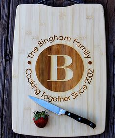 Circle Engraved Personalized Cutting Board