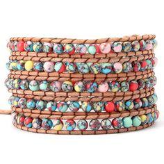 Beautiful Colourful Mess Wrap Bracelet – Florence Scovel