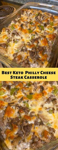 Ketogenic Diet My Keto Notes: Best Keto Low-Carb Philly Cheese Steak Casserole –. Ketogenic Diet My Keto Notes: Best Keto Low-Carb Philly Cheese Steak Casserole –. Philly Cheese Steaks, Philly Cheese Steak Casserole Recipe, Beef Recipes, Cooking Recipes, Recipies, Paleo Recipes Low Carb, Healthy Low Carb Meals, Low Carb Hamburger Recipes, Low Carb Dinner Recipes