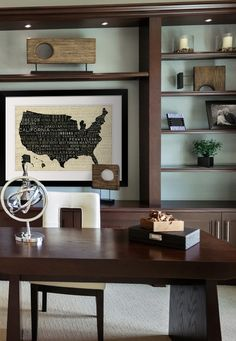 Looking for a way to decorate your #office with a #map of the USA? Take a look at this cool map with state names listed across it!