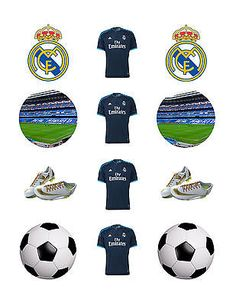 12 x 5cm pre cut real madrid fc  #football boys birthday #wafer cupcake #toppers,  View more on the LINK: http://www.zeppy.io/product/gb/2/301871972913/