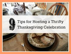 Tips on throwing a thrifty Thanksgiving Party