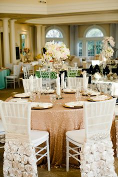 Real Weddings Magazine Eye Candy: Trends {Dazzle} appears on the Real Weddings Magazine Blog. Photos courtesy of and copyright Carmen Salazar Photography. Venue: Vizcaya, Linens: Mimi & Co., Florist: Florals by Kim, Paperie:  Honey Paperie, Music & Entertainment: Music & More Entertainment, Catering: Beth Sogaard Catering Desserts: Sweet Cakes by Rebecca, Bridal Attire: Enchanted Bridal & Tuxedo Shoppe. See more at http://www.realweddingsmag.com/real-weddings-magazine-eye-candy-trends-dazzle...