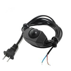 Black+Lamp+Power+Cord+Swivel+Dimmer+Dimming+Switch+AC+250V/110V+US+Plug+w+Cable+db