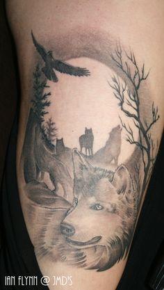 wolf tattoo by ian flynn