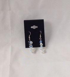 Opalite Chakra Gemstone Earrings in Silver by AnnetiqueChic on Etsy https://www.etsy.com/listing/241688075/opalite-chakra-gemstone-earrings-in