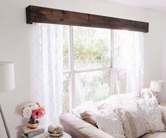 Home Decor Inspiration How to Make Your Own Wood Window Valence with Curtains Mind Your Dishwasher A Rustic Window, Decor, Home Diy, Cheap Home Decor, Home And Living, Wood Valance, Home Projects, Valences For Windows, Home Decor