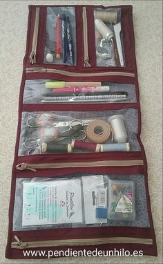 New Sewing Kit Pouch Projects 59 Ideas Easy Sewing Projects, Sewing Projects For Beginners, Sewing Hacks, Sewing Tutorials, Sewing Crafts, Sewing Patterns, Sewing Caddy, Sewing Kit, Love Sewing