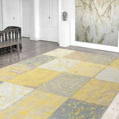 Louis De Poortere Vintage Multi-Vanilla Dream offers a faded look with a pastel colour palette. #ModernRugs #DecorTips