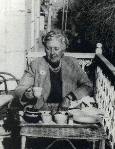 Agatha Christie and her tea... Marvelous woman.... awesome writer...