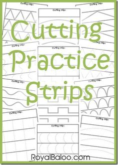 Free Cutting Practice Strips Download.  A fun way to work on those fine motor skills.  Just print and go!!  Grab this FREEBIE at:  http://royalbaloo.com/free-cutting-practice-strips/