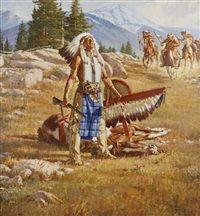 Stan Davis (American, b. The Legend of Brown Eagle kK Native American Models, Native American Ancestry, Native American Warrior, Native American Paintings, Native American Pictures, Indian Pictures, American Indians, Indian Artwork, Indian Paintings