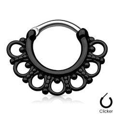 Tribal Fan Septum Clicker Surgical Steel Nos Septum Piercing Jewelry, Cartilage Ring, Daith Earrings, Septum Clicker, Septum Piercings, Peircings, Diath Piercing, Gauges, Facial Piercings