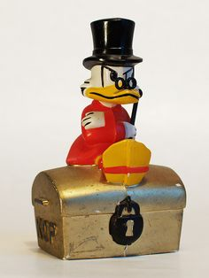 Scrooge McDuck piggy bank by KOP. Penny Bank, Uncle Scrooge, Princess And The Pea, Scrooge Mcduck, Good Old Times, Money Box, Retro Toys, Along The Way, Finland