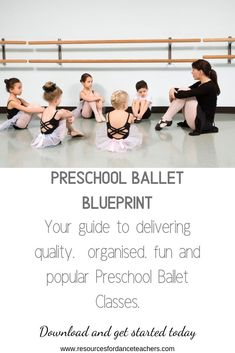 Preschool Ballet Blueprint - preschool ballet curriculum for years - Resources for Dance Teachers Teach Dance, Dance Camp, Toddler Dance Classes, Ballet Class, Ballet Studio, Ballet Quotes, Dance Quotes, Preschool Class, Dance Teacher