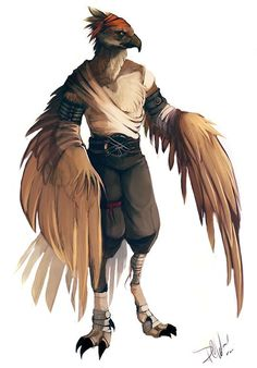 Image result for humanoid bird