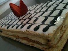 Pastel Mil Hojas :P #guapeton Cake Decorating, Yummy Food, Cake Stuff, Baking, Sweet, Desserts, Decoration, School, Life