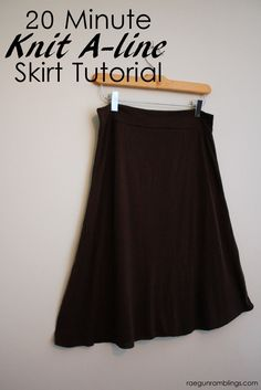 Super easy fold over knit a-line skirt tutorial