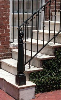 Iron railings at Mary Marshall Row, 230-244 E. Oglethorpe Ave. Photo by Steve Bisson.