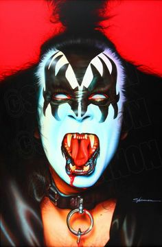 """SHANNON loves painting KISS icon Gene Simmons. His character """"The Demon"""" is both fun and challenging to paint."""