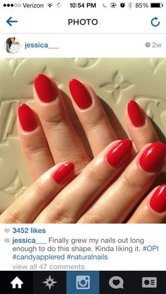 All natural nails shaped stiletto style . Love.